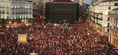 Puerta del Sol. 19 de Junio