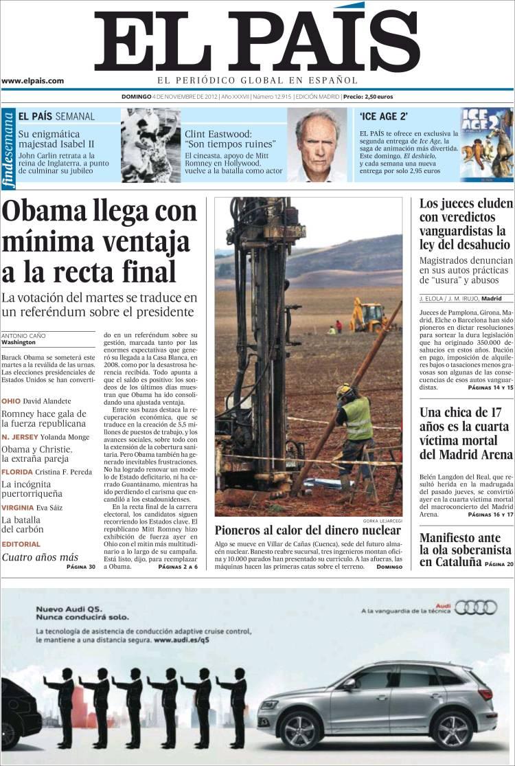 Ejemplo de Faldón en El País