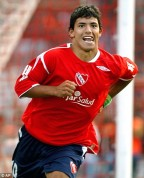 El Kun Agüero, en su etapa Roja