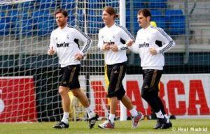 Xabi Alonso, Sergio Ramos e Iker Casillas