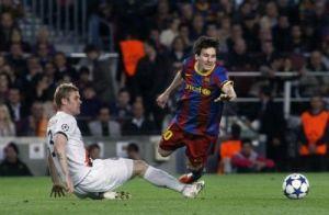 Faltas a Messi