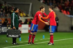 Llorente reemplaza a Torres en el España-Portugal del Mundial 2010