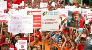 Manifestación antiimperialista en Venezuela