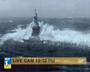 El huracán Sandy a su paso por Nueva York