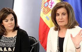Soraya Sáenz de Santamaría y Fátima Báñez, en la Moncloa
