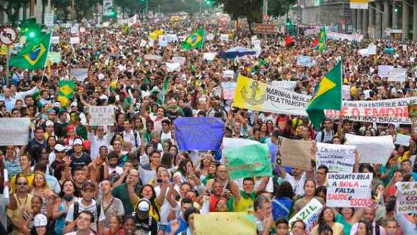 Manifas en Brasil