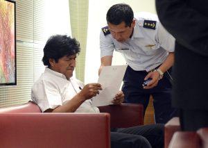 Evo Morales, retenido