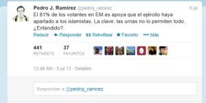 Tweet del director de El Mundo