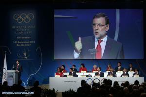 Rajoy, durante su discurso ante el COI. Foto: Xinhua